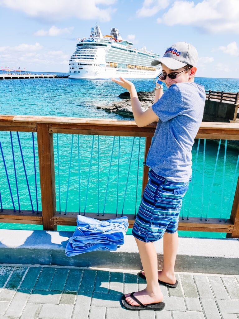 Royal Caribbean Cruise ship photo with tween