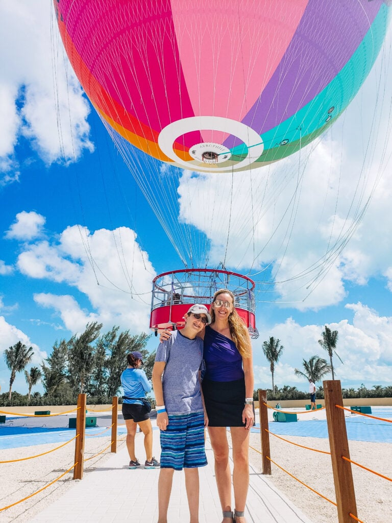 hot air balloon ride at Chicken wings at cococay