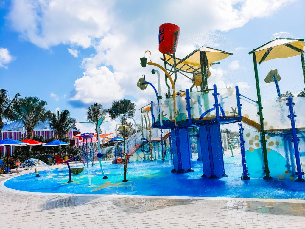 kiddie area for toddlers on private island Cococay