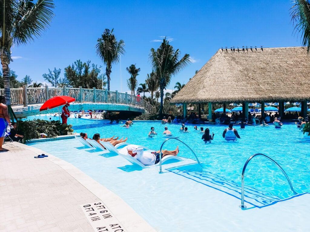 bar in pool in Bahamas