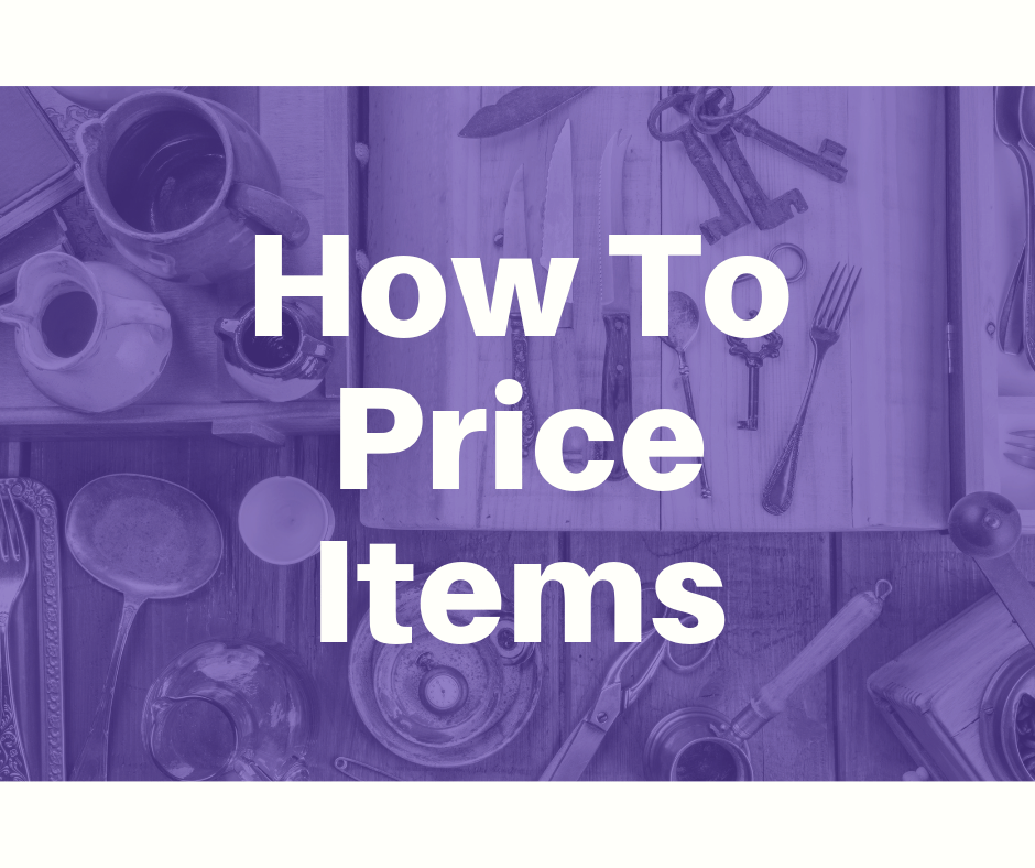 how to price garage sale items