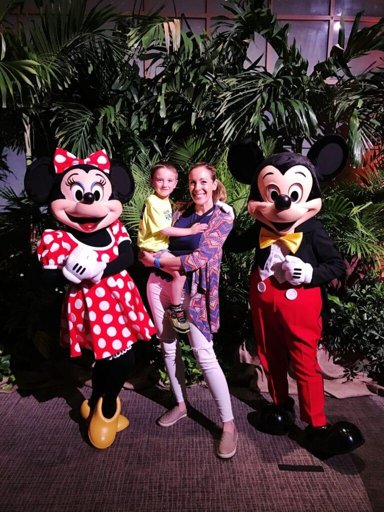 Character meet and greet at Disney