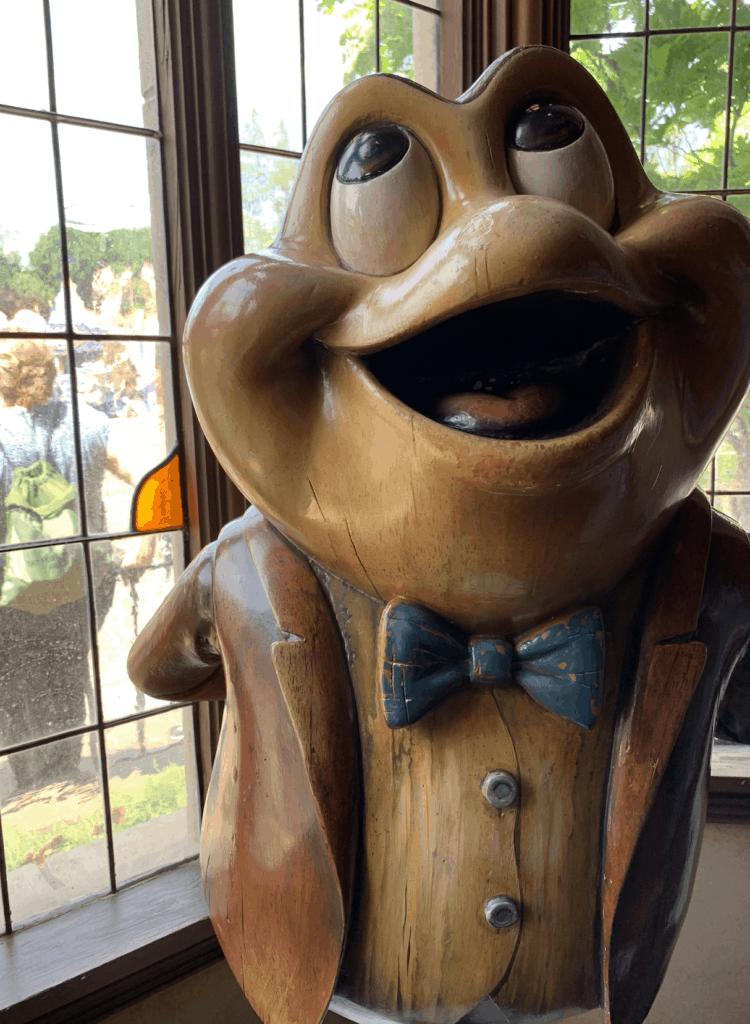 Mr Toad's Wild Ride statue