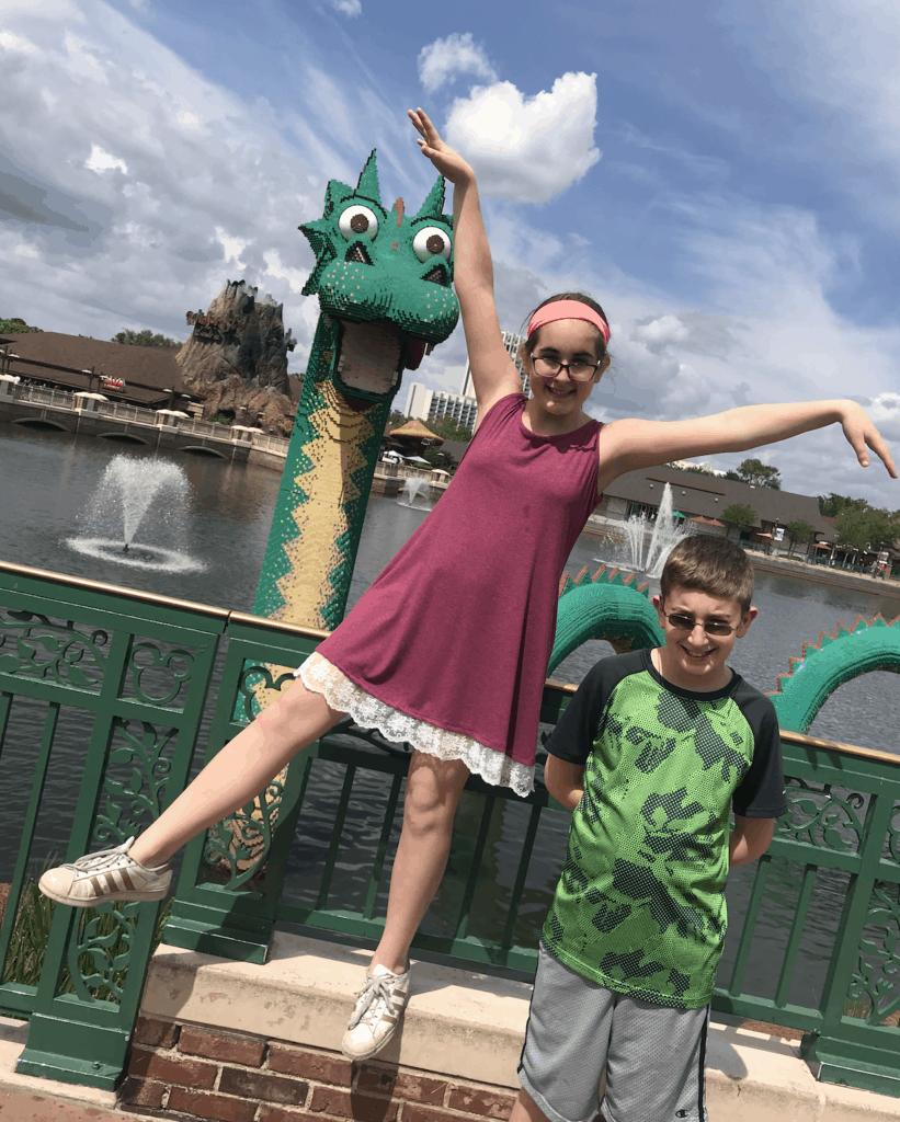 Disney Springs Lego Lochness Monster