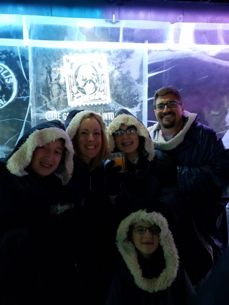 family in hotel c icebar