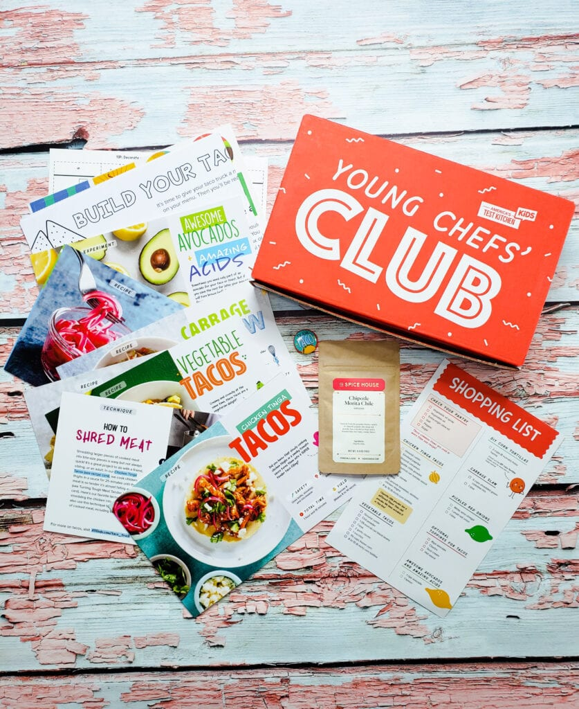 young chef's club subscription box for kids