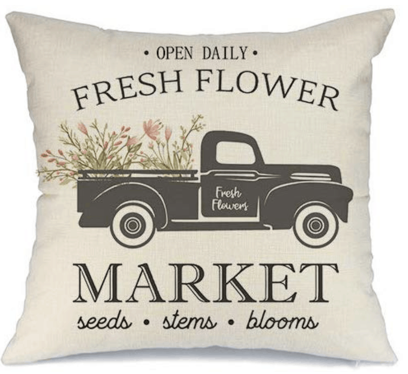 farmhouse pillows market car