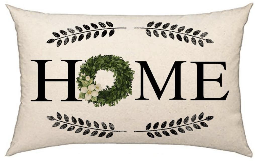 Home pillow wreath