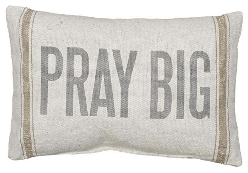 pray big farmhouse pillow case
