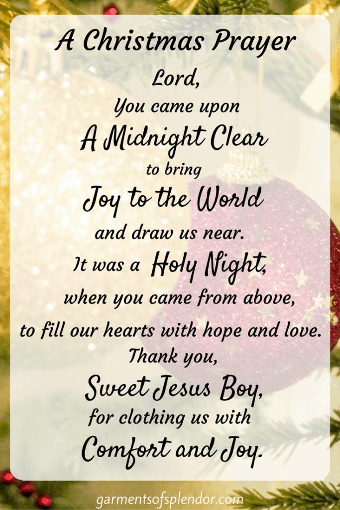 christmas prayer blessings