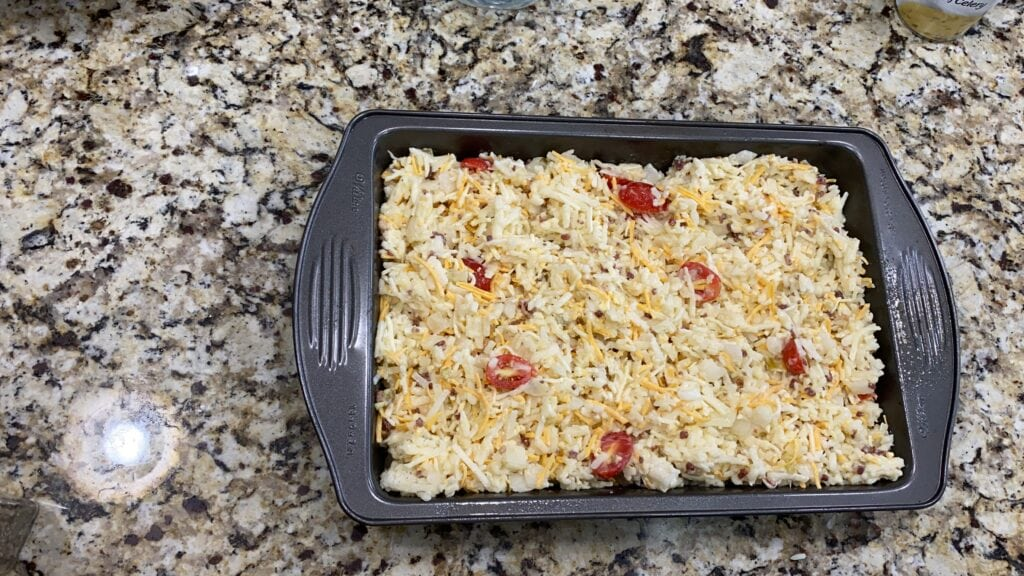 assemble casserole