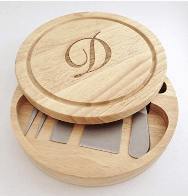 Round Cheese Board with Tools