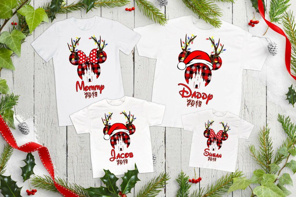disney christmas family shirts