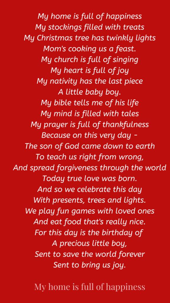 christmas prayer blessing