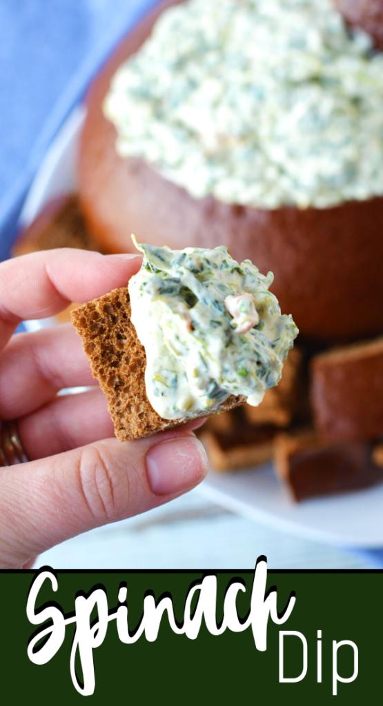 spinach dip recipe in bread bowl