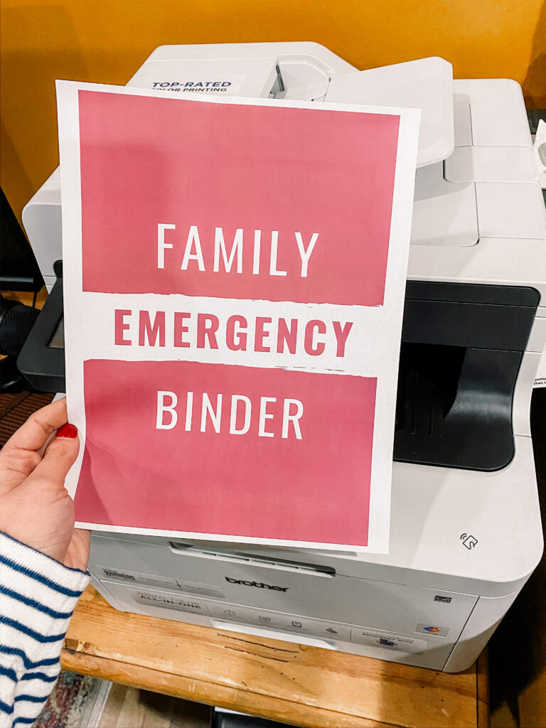 important documents binder