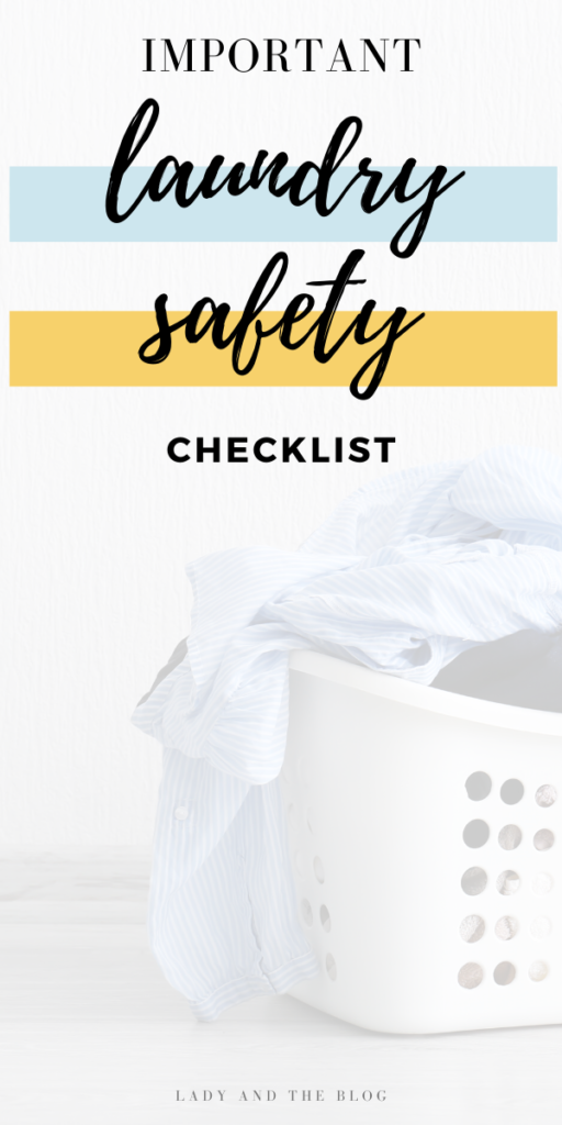 important laundry safety checklist