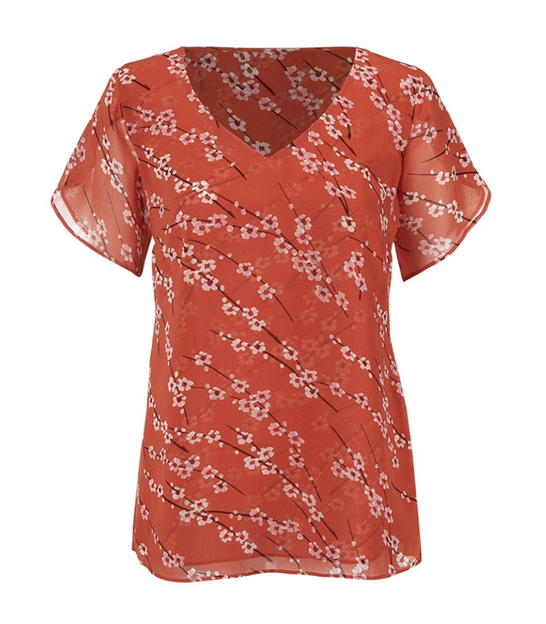cherry blossom pattern top cabi