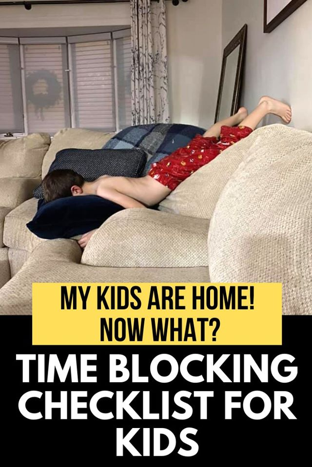lockdown time blocking schedule printable for work at home parents