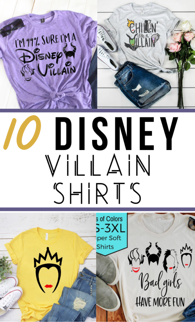 disney villain shirts