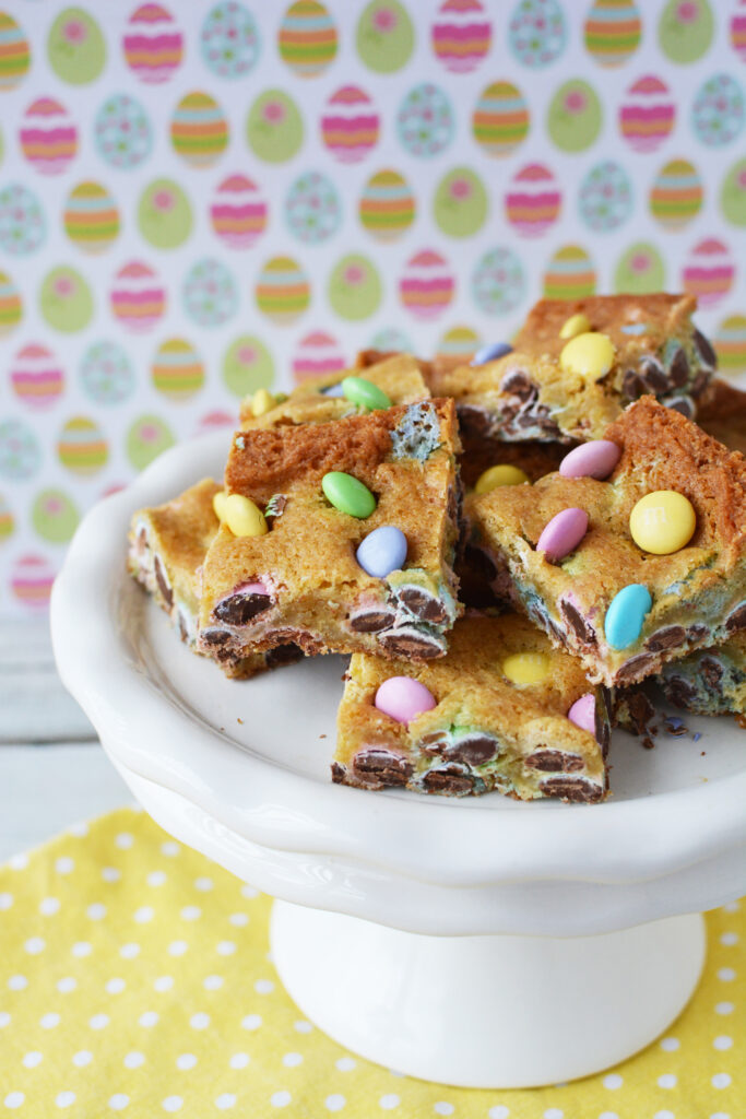 m&ms cookie bars