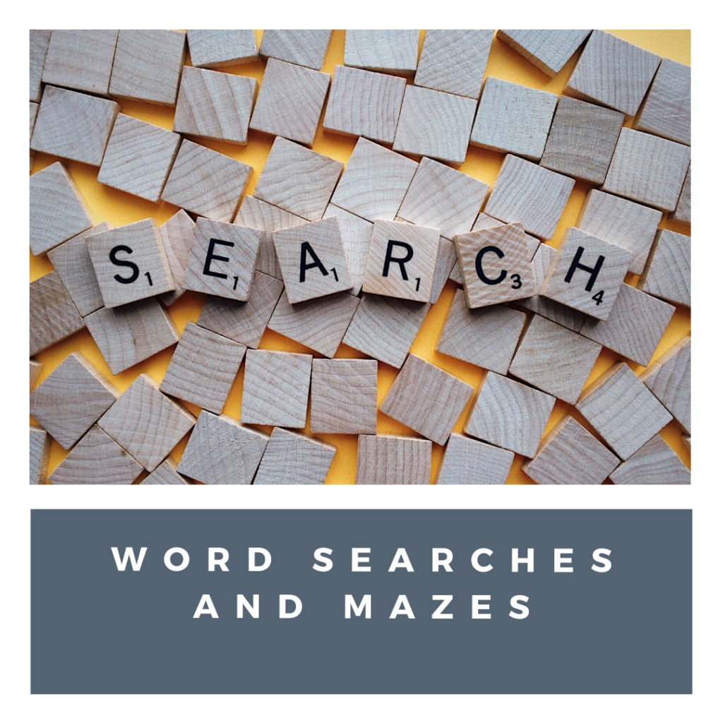 kids word search and online activities