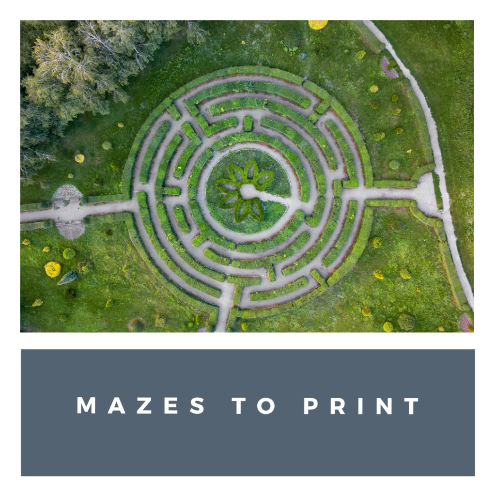 maze printables made for bored kids