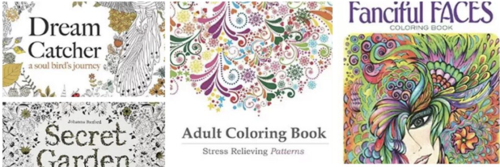 adult coloring books pass time while traveling