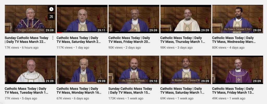 catholic mass online