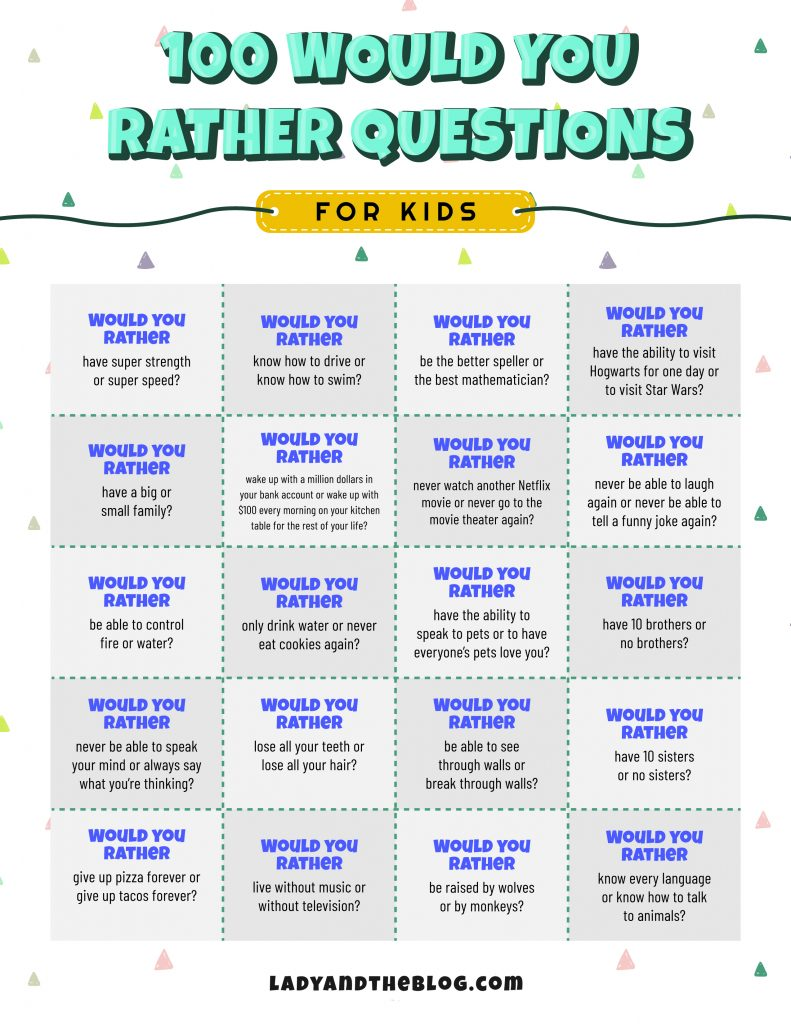 fun questions to ask kids