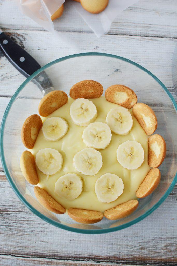 banana layer in banana pudding