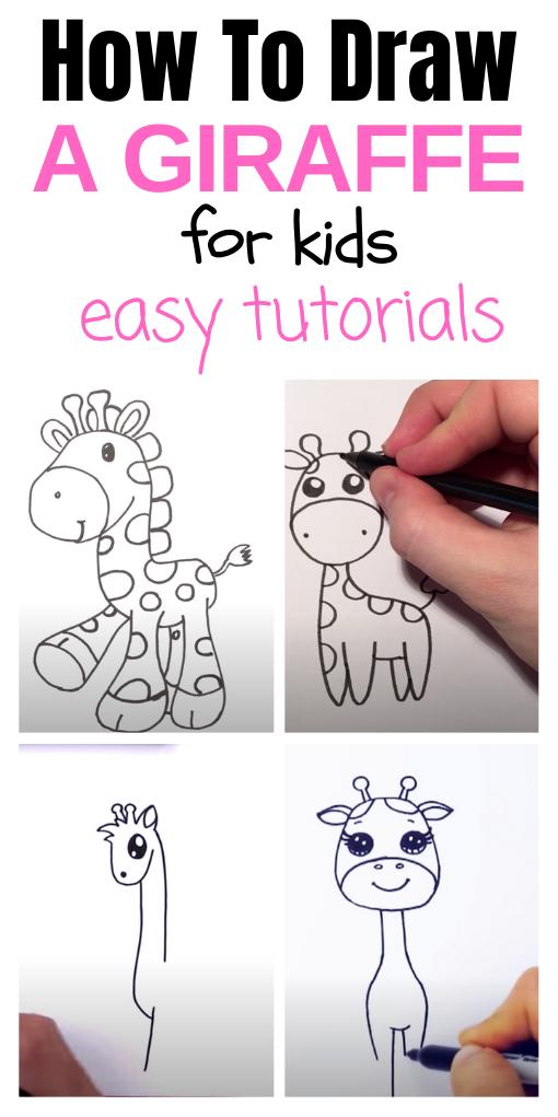 how to draw a giraffe
