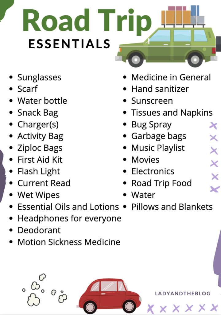 what to pack for a family road trip