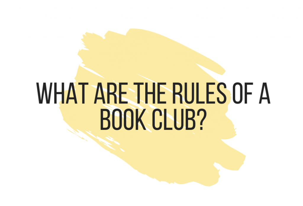 What are the rules of a book club?