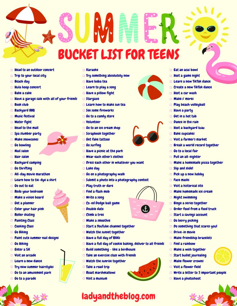 bucket list printable