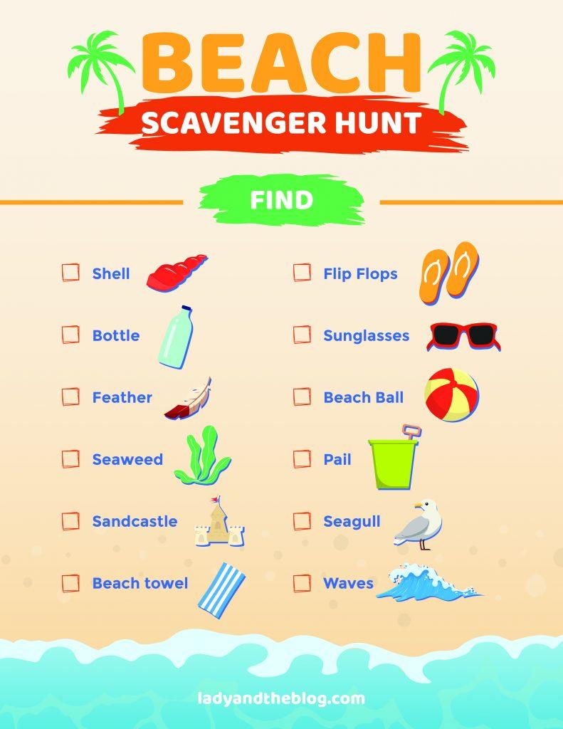 beach scavenger hunt for kids 2