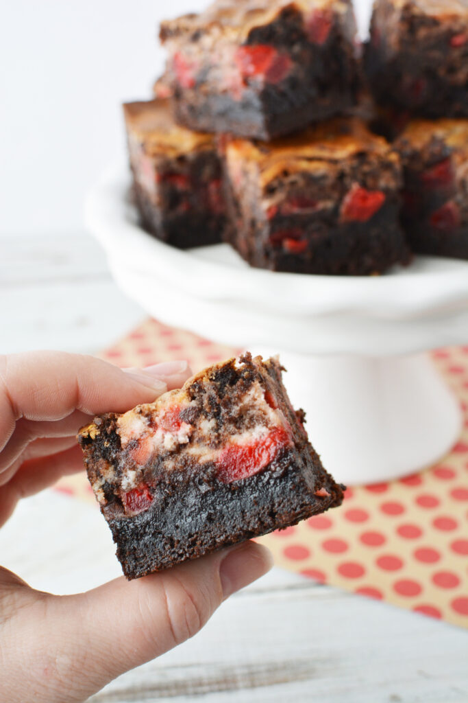 cherry brownies with chocolate chips
