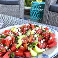 feta cheese and watermelon salad