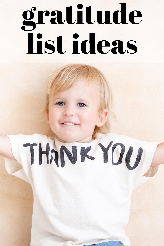 gratitude list ideas