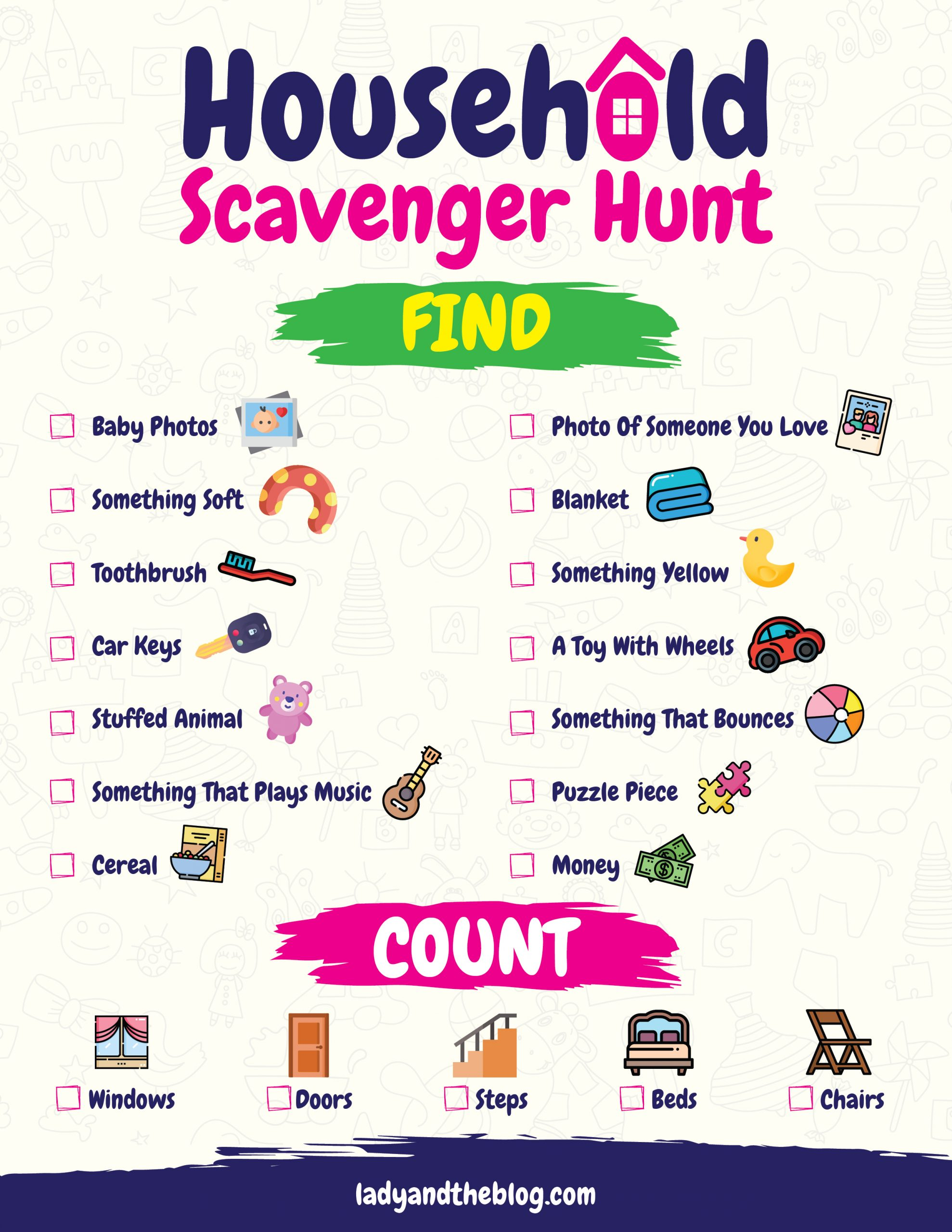 household scavenger hunt