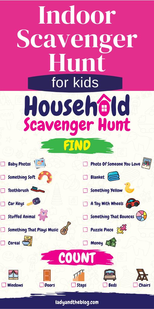 household scavenger hunt ideas for kids