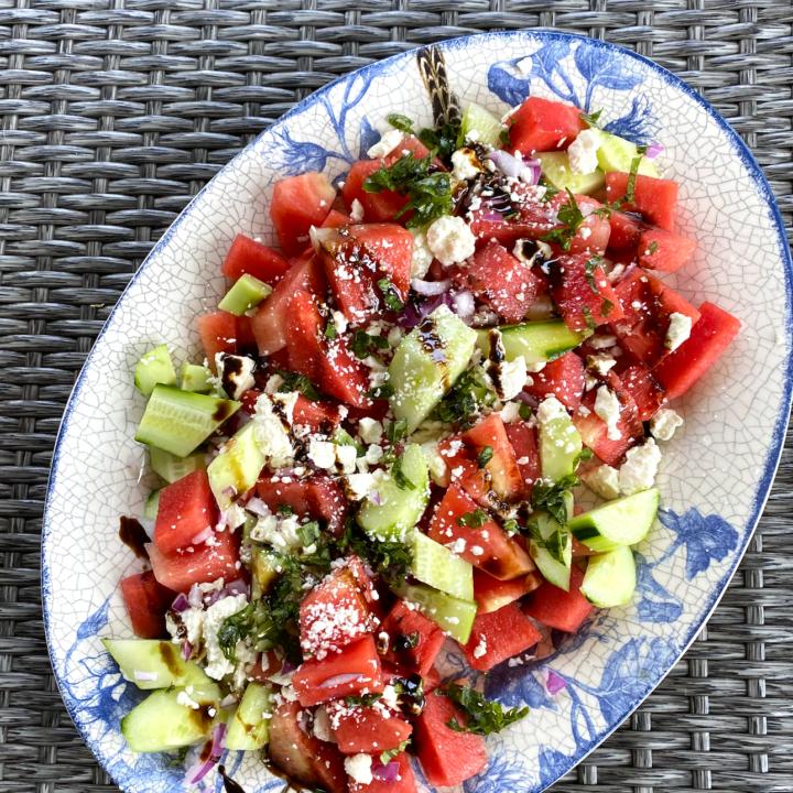 watermelon cucumber salad recipe