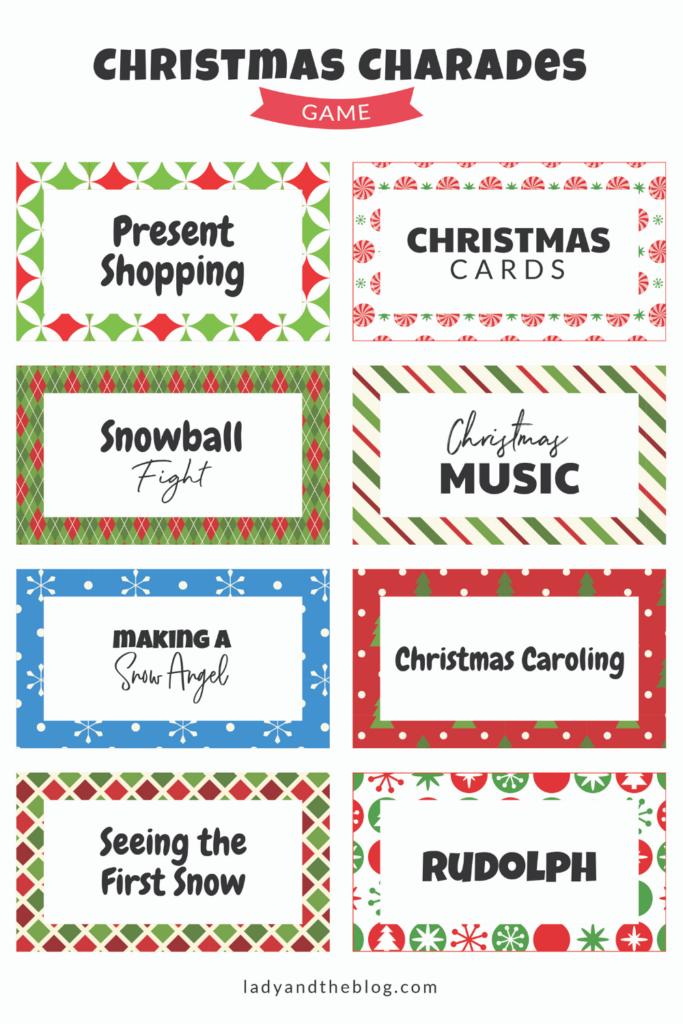 christmas charades list