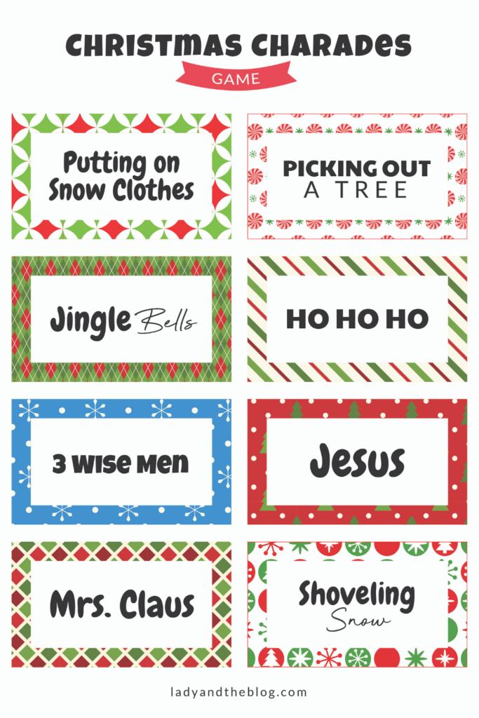 christmas charades printable