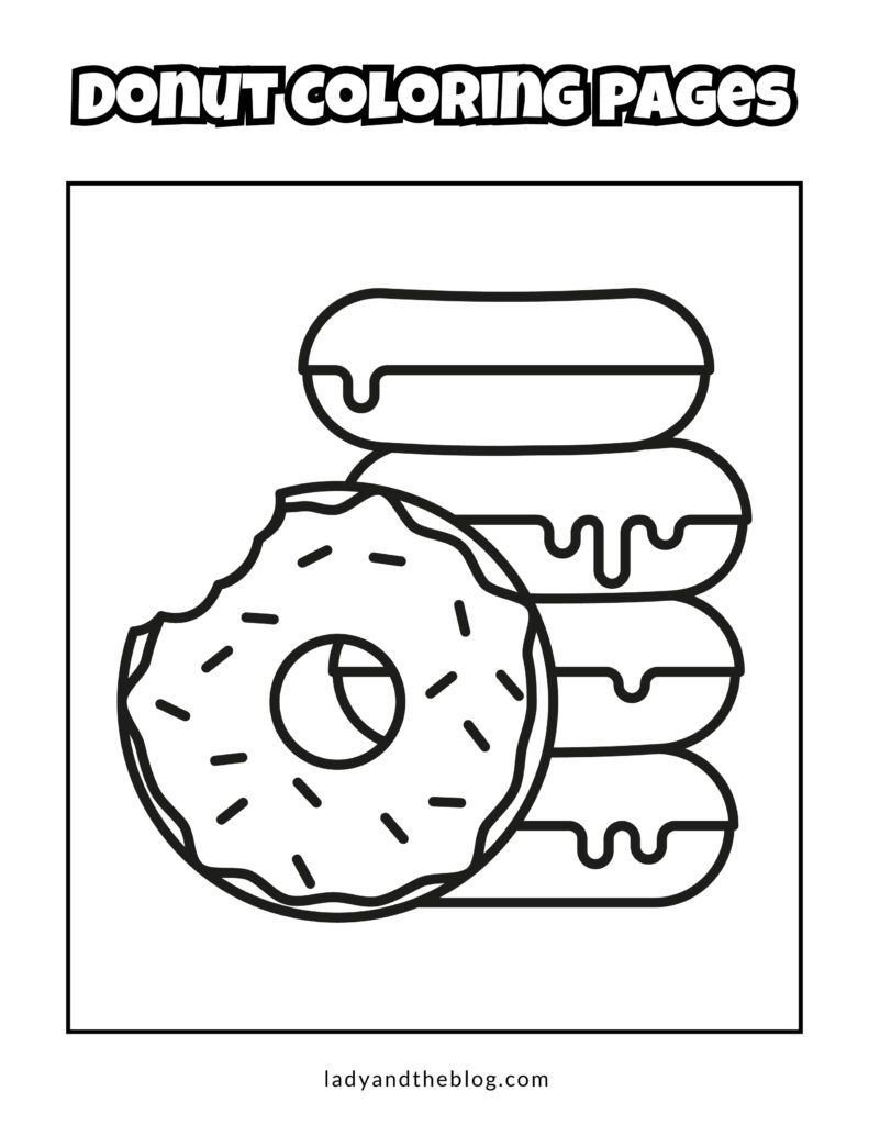 donut coloring sheets
