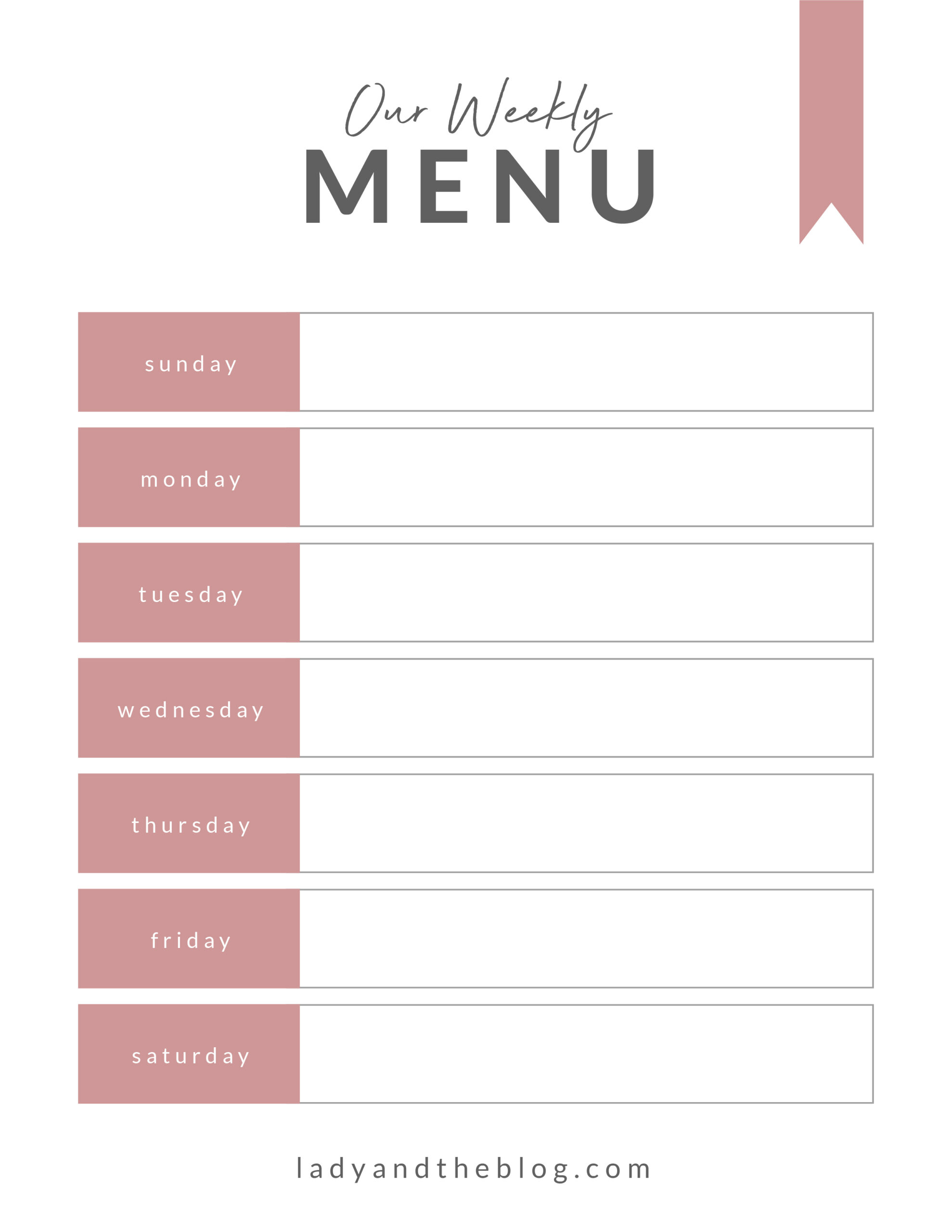 family meal planner