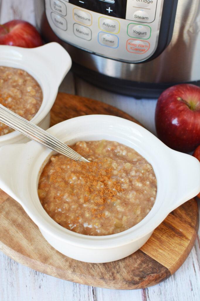 instant pot oatmeal apple