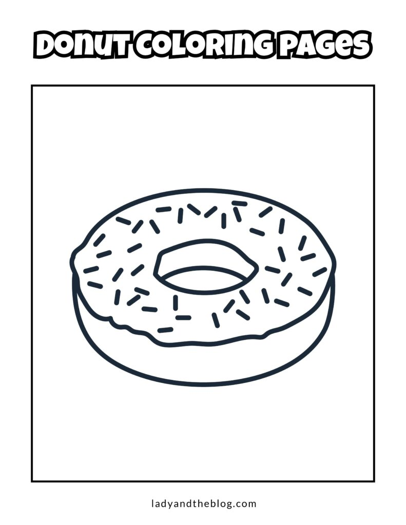 pictures of donuts to color