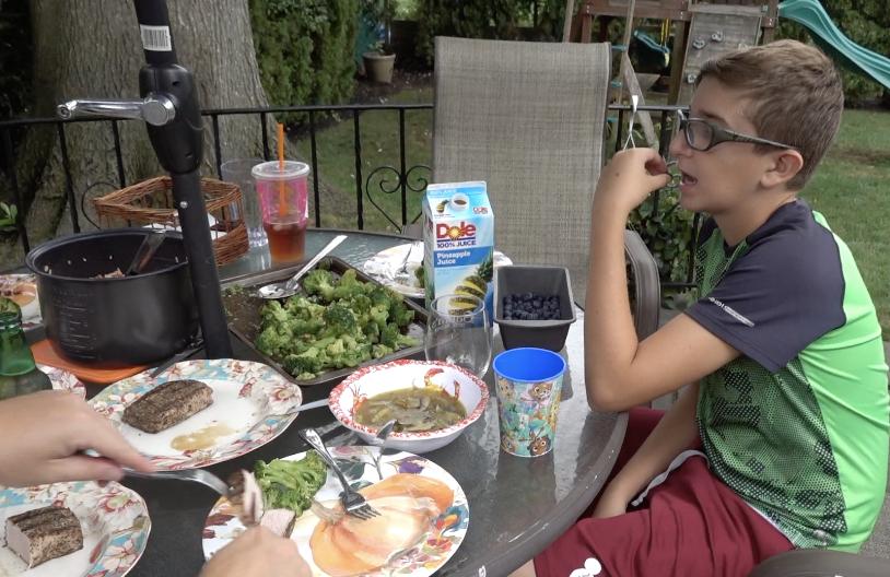 family eating benihana