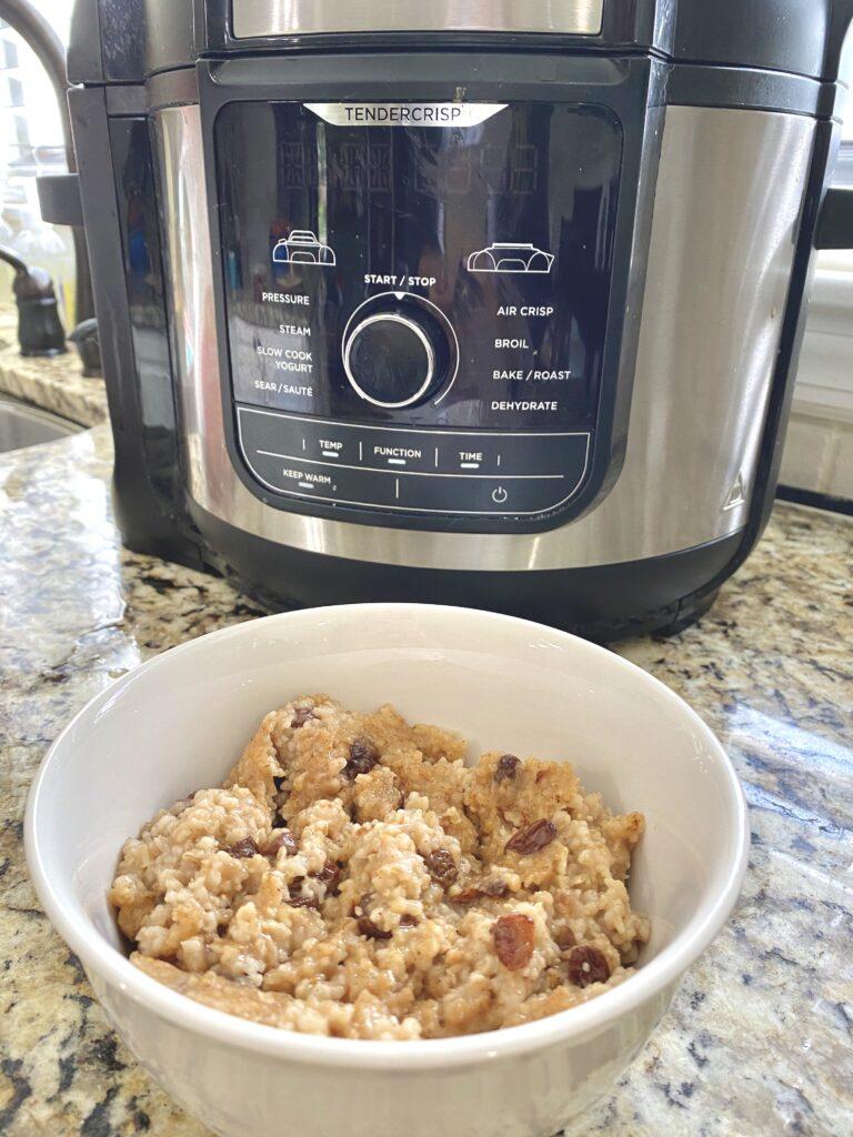 pressure cooker oatmeal